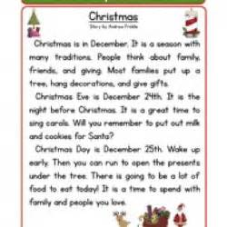 1st Grade Christmas Reading Comprehension » Home Design 2017