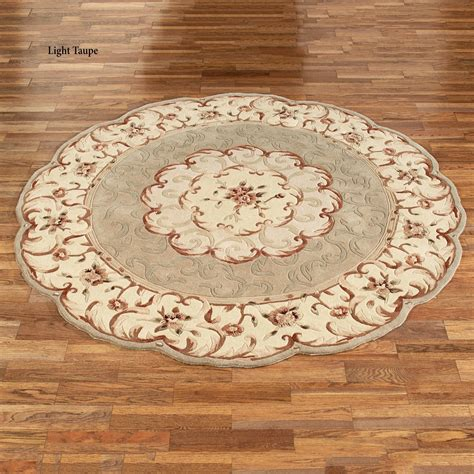 scalloped rug emmalee scalloped wool area rugs