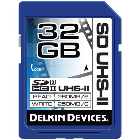 Sd Card Sdhc 32 Gb Uhs Ii U3 280 Mb S Hyper Evo V Dd224 delkin devices 32gb uhs ii sdhc memory card u3 ddsduhs232gb