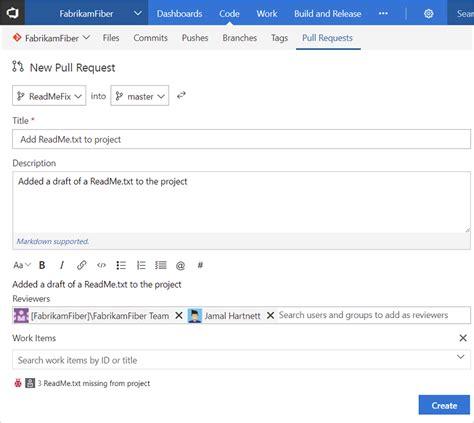 git vs2010 tutorial create a pull request microsoft docs
