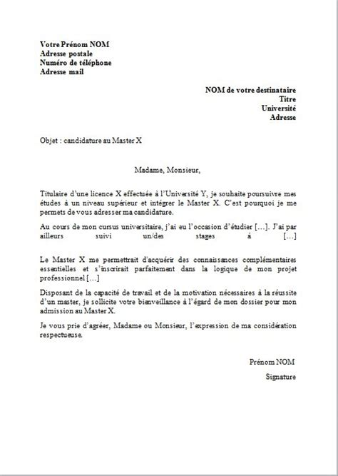 Lettre De Motivation Visa Professionnel Lettre De Motivation Master Pc