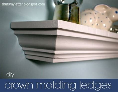 Diy Crown Molding Shelf by Diy Crown Molding Ledges I Can Make That