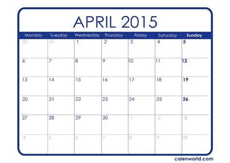 printable calendar 2015 that i can edit april 2015 calendar printable calendars
