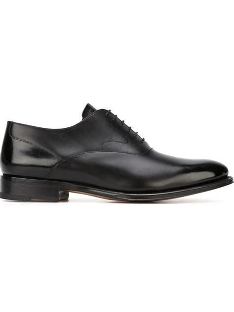 Gfa 21 Lace Valentino Classic Shoes 1 valentino classic oxford shoes in black for lyst