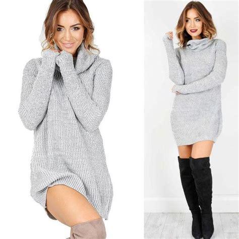 cowl neck sweater dress  deal shop