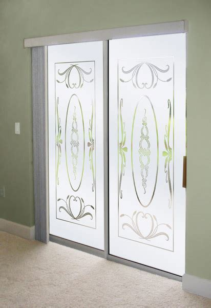 Decorating Ideas Sliding Glass Doors Decorate Sliding Glass Doors With Frosted Glass Designs