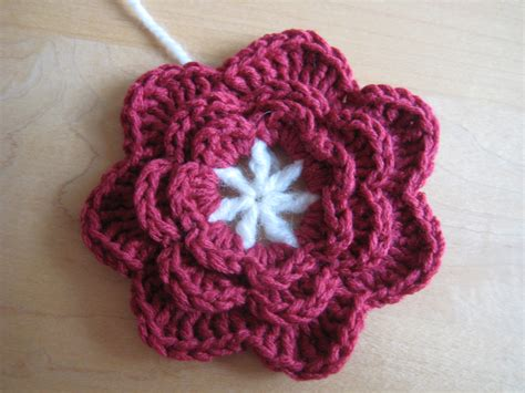 free pattern for crochet flowers triple layer petals flower pattern make my day creative