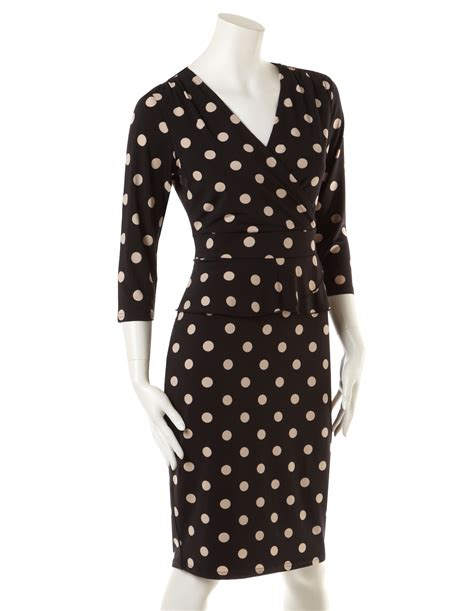 Peplum Polkadot polka dot peplum dress