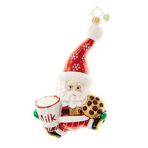 christmas time snacks christopher radko ornament 2016 radko snack time santa ornament 1018624