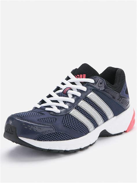 Adidas Running Warna Navy adidas duramo 4 running trainers navysilver in blue navy silver pink lyst