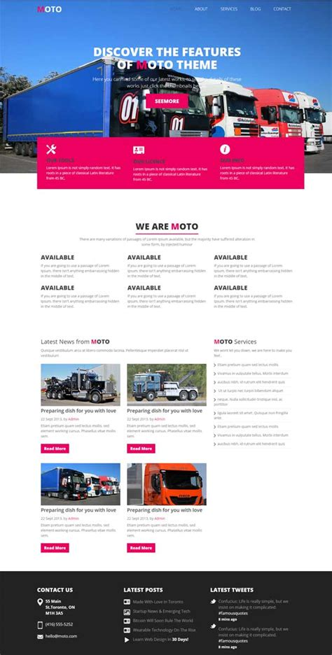 bootstrap themes transport 30 bootstrap website templates free download jewel theme