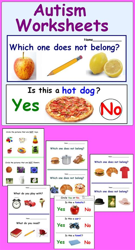 Autism Worksheets by 1000 Images About Classroom On Special
