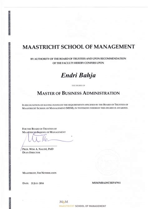 Can I 2 Mba Degrees by Mba Degree Endri Bahja