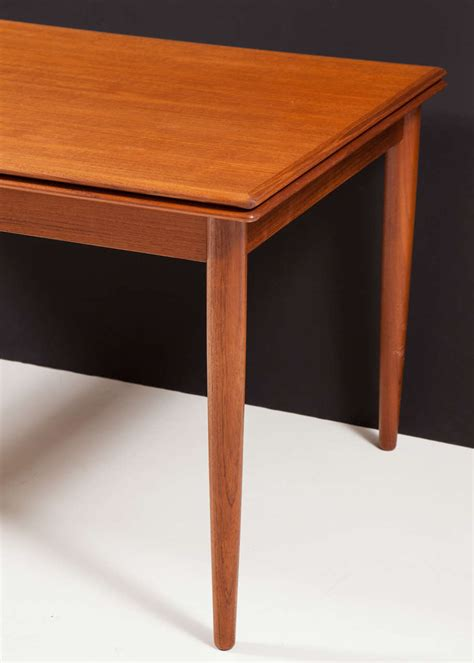 pull out table modern dining table with pull out leaves seats ten at 1stdibs