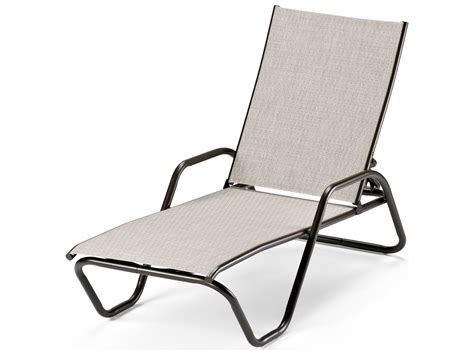 telescope chaise lounge telescope casual gardenella sling aluminum stackable