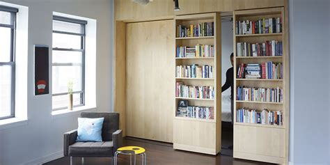 Sliding Door Bookcase How To Get More Out Of Your Walls Rolling Bookshelves