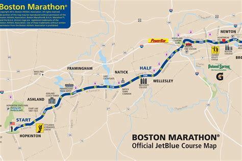 boston marathon route map boston marathon 2013 route information course map and