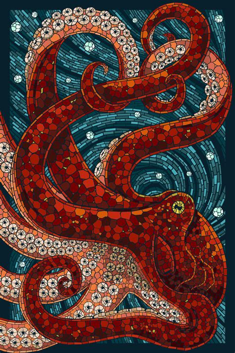 mosaic images paper mosaic octopus by alixbranwyn on deviantart