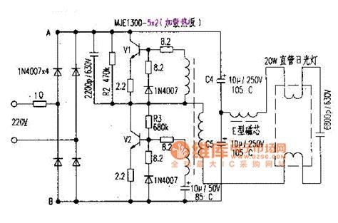 circuit diagram of electronic choke 20w fluorescent l electronic ballast circuit diagram