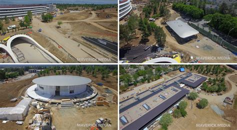 apple park drone footage reveals apple park is starting to come