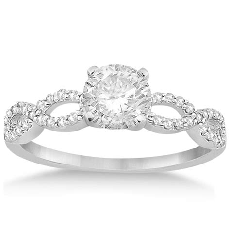 twisted infinity engagement ring setting 14k white