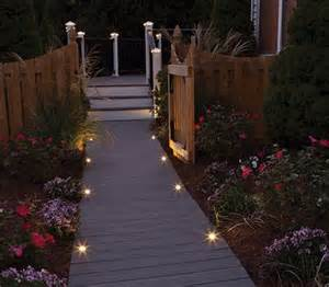 Led step lights complement transcend porch decking and railing to