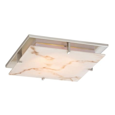 Low Profile Decorative Alabaster Ceiling Trim For Recessed Low Profile Ceiling Lighting
