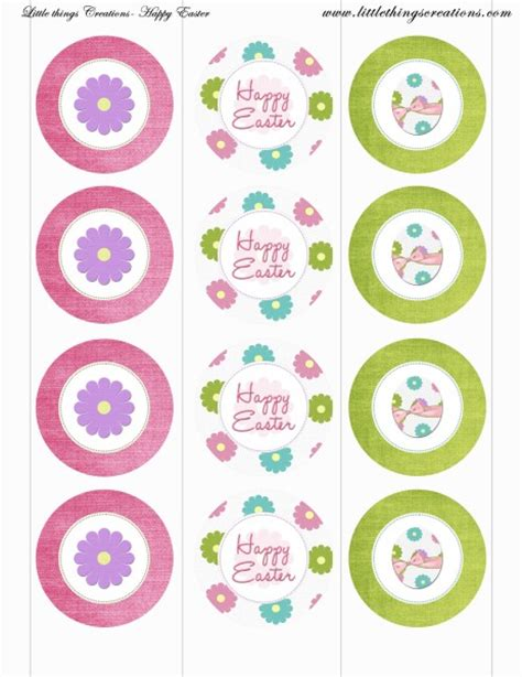 printable cupcake name tags free easter party printables from little things creations