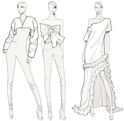 fashion templates fashion illustration fashion illustration for coloring
