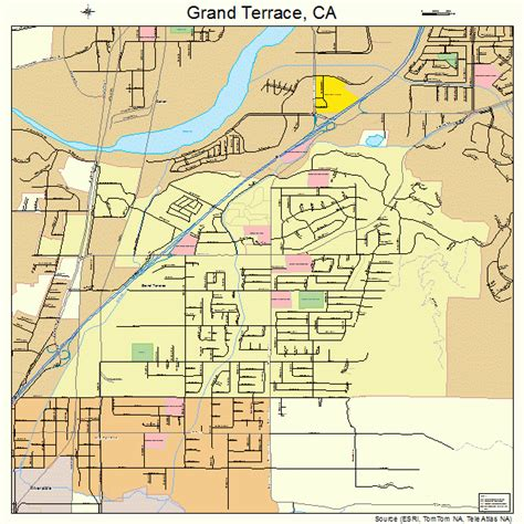 california map grand grand terrace california map 0630658