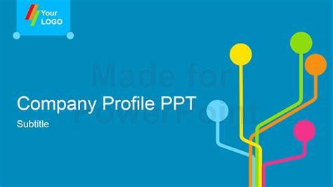 company profile powerpoint presentation template stock