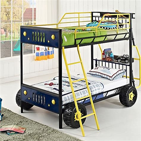 race car bunk beds buy powell dune buggy car twin over twin bunk bed from bed