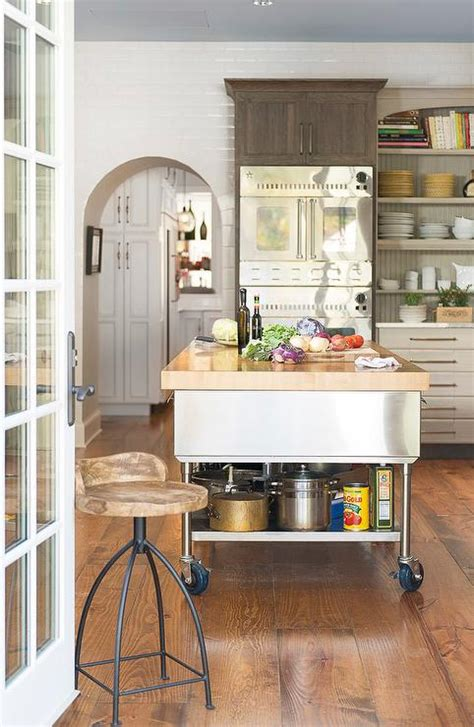 stainless steel kitchen island on wheels stainless steel kitchen island with shelf on wheels eclectic kitchen