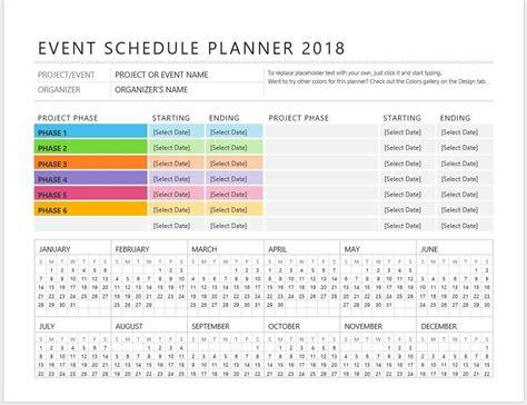 event schedule template best resumes