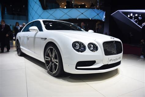 white bentley 2016 geneva 2016 bentley flying spur v8 s gtspirit