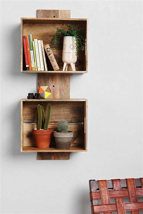 locust stacked crate wall shelf decor home decor