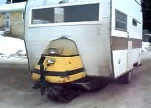 Homemade Camper Awning The Diy Snowmobile Camper These Canadians Made Is Crazy