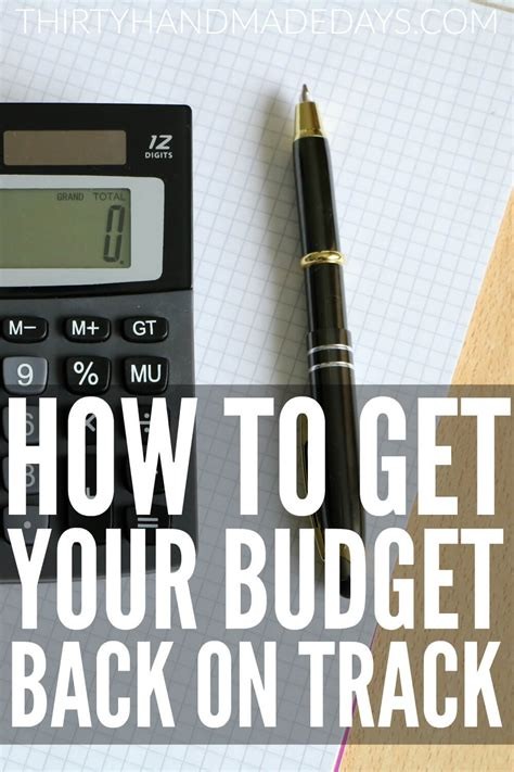 Get Your On Track by How To Get Your Budget Back On Track Thirty Handmade Days