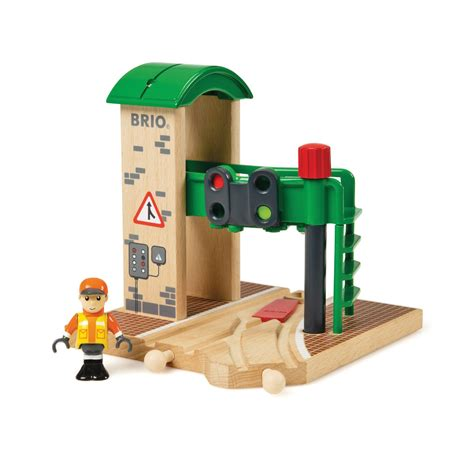 brio compatible brio wooden railway signal station at toystop