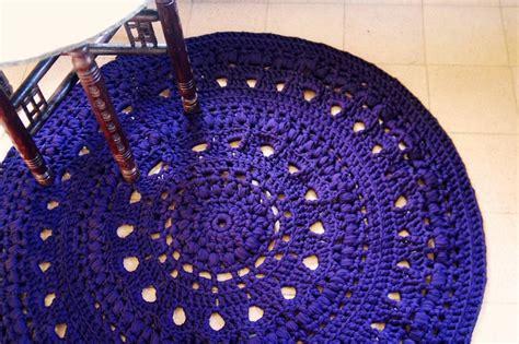 Crochet Tshirt Yarn Rug by T Shirt Yarn Crochet Rug Crochet With T Yarn