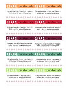 Free Printable Punch Card Template by Printable Chore Punch Cards For My Craftily After