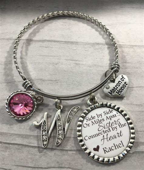 bridal shower gifts from matron of honor matron of honor bracelet bridesmaid gift gift from