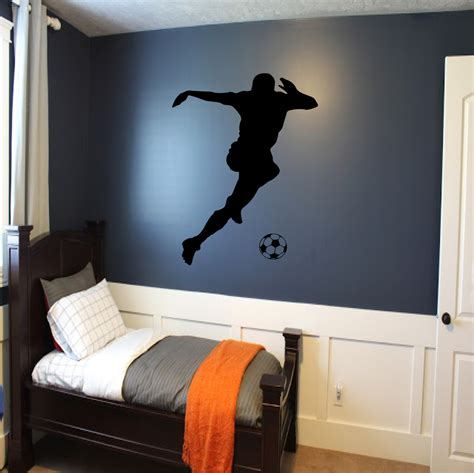 soccer murals for bedrooms soccer player wall decal soccer wall decor sports decal