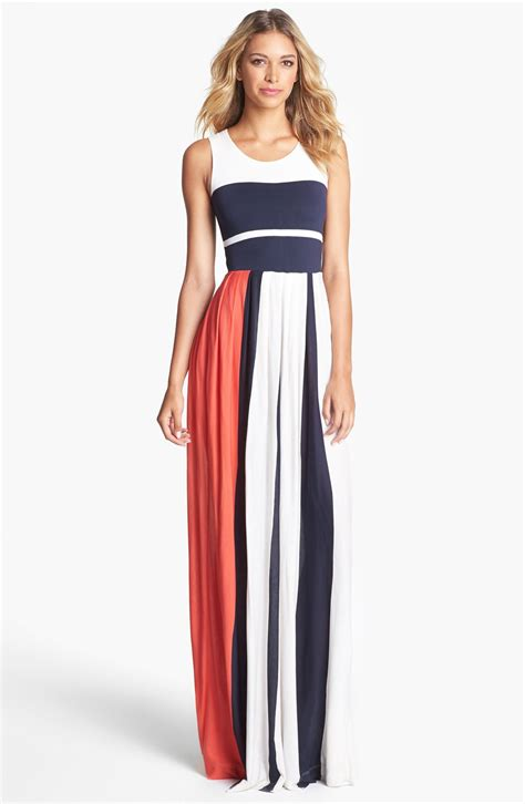 Meidina Dress connection medina stripe maxi dress in white