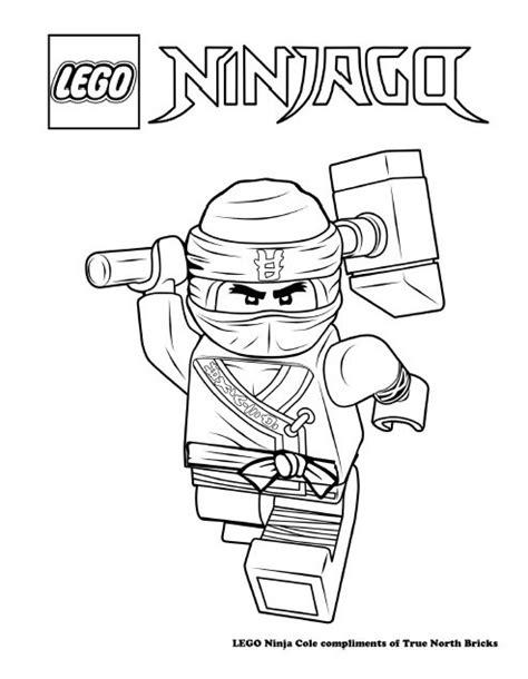 coloring pages ninjago cole lego colouring page ninja cole true north bricks