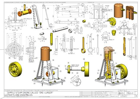 make a blueprint for free simple steam engine plans