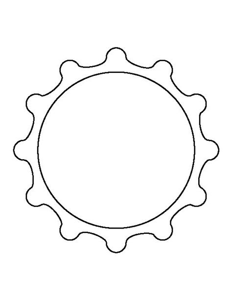 bottle cap template bottle cap pattern use the printable outline for crafts