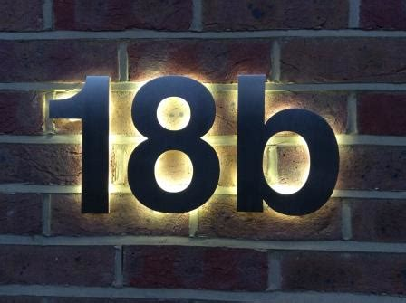 design house numbers uk illuminated house numbers led house numbers