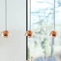Diy Flower Chandelier Verner Panton Flowerpot Lamp Vp1 Pendant Light Copper