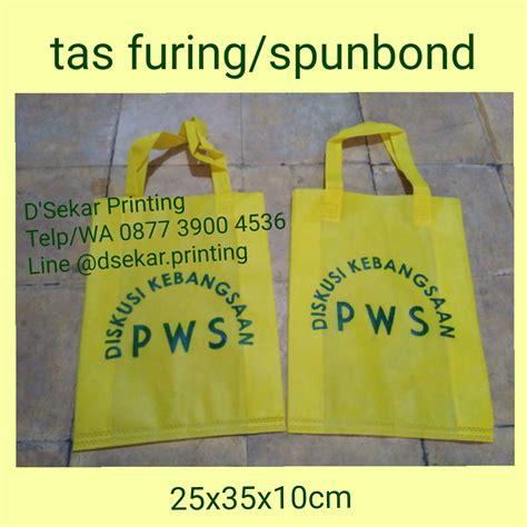 Sablon Tas Goodybag Sponbon cetak tas furing pusat cetak sablon merchandise